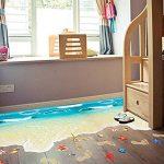 Générique 3D Mer Plage Sol Stickers? Creative Sol Amovible Autocollant Enfants Poster Wave Décor Art pour Salle de Bain Cuisine Washroom de la marque Générique image 4 produit