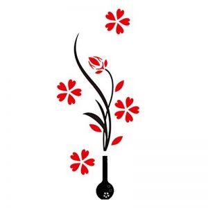 Gosear® 1 Pc Vase Acrylique 3D et Prune Fleur Modèle Sticker Salle TV Décor Entrée Decor Sticker Fond D'Écran Style Aléatoire de la marque Gosear image 0 produit