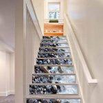 GPFDM 3D Pierres dans la rivière Autocollants pour escaliers Paysage naturel DIY Mural Auto-adhésif PVC Stickers muraux pour Salon, Plinthe de chambre à coucher, Couloir Décorations Durable , 1 Set 18 pcs , 100*18cm de la marque GPFDM Stickers image 2 produit