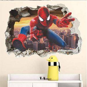 Grand 3D Spiderman XXXL Homme araignée Grand Énorme mur Autocollants Enfants Garçons Chambre Decal art Mural Décor Décoration de la marque Deco-online image 0 produit