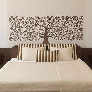 """Grand mur Art inspiré par""""arbre de la vie"""" de Klimt vinyle Sticker mural pour votre salon Decor tête de lit peintures murales décoration 110x42cm de la marque WALSITK image 0 produit"""