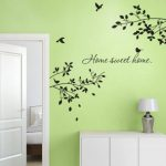 Grandora w903Sticker mural Inscription Home Sweet Home Home + branches avec oiseaux de la marque Grandora image 1 produit