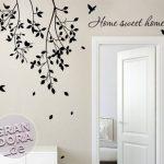 Grandora w903Sticker mural Inscription Home Sweet Home Home + branches avec oiseaux de la marque Grandora image 2 produit