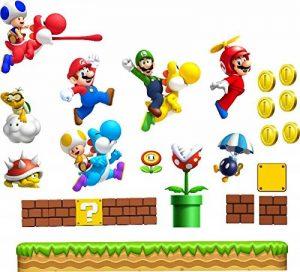 Grands stickers muraux Super Mario pour chambre de garçon Art Mural Mario/Luigi/Yoshi de la marque COLORFUN image 0 produit