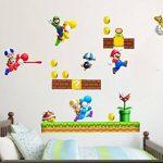 Grands stickers muraux Super Mario pour chambre de garçon Art Mural Mario/Luigi/Yoshi de la marque COLORFUN image 1 produit