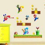 Grands stickers muraux Super Mario pour chambre de garçon Art Mural Mario/Luigi/Yoshi de la marque COLORFUN image 3 produit