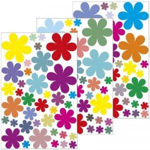Graz design sticker mural décoratif motif fleurs design 1–114 stickers à 3 feuilles a4/wandkleber sticker mural/autocollant décoratif pour chambre d'enfant, salle de séjour, chambre à coucher ou comme cadeau de la marque geschenke-fabrik-de image 0 produit