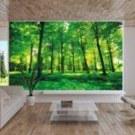 GREAT ART Affiche Arbres - Mur Decoration Paysage Naturel Pure Plante Fleur Foret relaxants avec trop de Soleil | Mur Deco Poster Mural Image by (140 x 100 cm) de la marque GREAT-ART image 4 produit