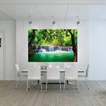 GREAT ART Affiche Cascade Feng Shui - Décoration Murale Vacance paradisiaque dans Une Forêt Tailandaise en Asie avec Wellness Spa Relax | Mur Deco Poster Mural Image by (140 x 100 cm) de la marque GREAT-ART image 3 produit