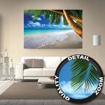 GREAT ART Affiche de décoration Murale des plages de rêve de Palm Beach des Caraïbes Un Paradis d'île Naturelle de Palmiers tropicaux et de Ciel Bleu | Mur Deco Poster Mural Image by (140 x 100 cm) de la marque GREAT-ART image 2 produit