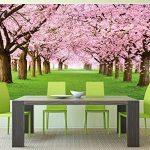 GREAT ART Affiche de Fleurs de Cerisier du Printemps Peinture Murale de décoration du Paysage Naturel Avenue de Fleurs Sakura Bloom Fleurs de Cerisier | Mur Deco Poster Mural Image by (140 x 100 cm) de la marque GREAT-ART image 2 produit