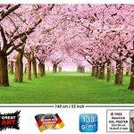 GREAT ART Affiche de Fleurs de Cerisier du Printemps Peinture Murale de décoration du Paysage Naturel Avenue de Fleurs Sakura Bloom Fleurs de Cerisier | Mur Deco Poster Mural Image by (140 x 100 cm) de la marque GREAT-ART image 1 produit
