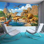 GREAT ART Affiche Dinosaure Murale Chambres Enfants Décoration Murs comiquel Aventure Dino Mondiale Style Jungle Cascade Dinosaurus | Mur Deco Poster Mural Image by (140 x 100 cm) de la marque GREAT-ART image 3 produit