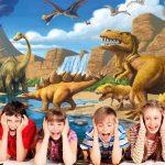 GREAT ART Affiche Dinosaure Murale Chambres Enfants Décoration Murs comiquel Aventure Dino Mondiale Style Jungle Cascade Dinosaurus | Mur Deco Poster Mural Image by (140 x 100 cm) de la marque GREAT-ART image 2 produit