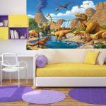 GREAT ART Affiche Dinosaure Murale Chambres Enfants Décoration Murs comiquel Aventure Dino Mondiale Style Jungle Cascade Dinosaurus | Mur Deco Poster Mural Image by (140 x 100 cm) de la marque GREAT-ART image 4 produit