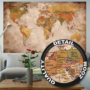 GREAT ART Carte du Monde Décoration Murale Vintageet Rétro (140 x 100 cm) de la marque GREAT-ART image 0 produit