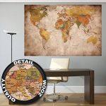 GREAT ART Carte du Monde Décoration Murale Vintageet Rétro (140 x 100 cm) de la marque GREAT-ART image 2 produit