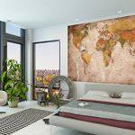 GREAT ART Carte du Monde Décoration Murale Vintageet Rétro (140 x 100 cm) de la marque GREAT-ART image 3 produit