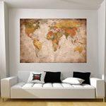 GREAT ART Carte du Monde Décoration Murale Vintageet Rétro (140 x 100 cm) de la marque GREAT-ART image 4 produit