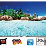 GREAT ART Secret Island dans l'eau cristalline paradisiaque Photo Murale XXL Poster Décoration Murale 140 x 100 cm de la marque GREAT-ART image 1 produit
