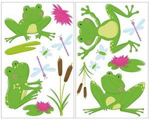 Grenouille de 16 pièces Sticker mural pour chambre de Chambre de bébé, multicolore, 2x 16x26cm de la marque Samunshi image 0 produit