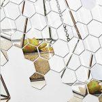 Gudotra 28pcs Autocollant Stickers Muraux Miroirs 3D Argent Hexagone Amovible pour Décoration d'Intérieur (Moyen: 8 x 7 x 5 cm) de la marque Gudotra image 3 produit