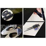 GUFAN 3D DIY Pendule Murale Moderne Métallique Horloge de Salon Décoration (noir) de la marque GUFAN image 3 produit
