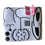 GWELL Sticker Trompe l'œil Stickers de Porte 3D Effet Décoration Chambre Enfant Animal OursLapin de la marque GWELL image 2 produit