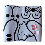GWELL Sticker Trompe l'œil Stickers de Porte 3D Effet Décoration Chambre Enfant Animal OursLapin de la marque GWELL image 3 produit