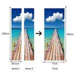 GWELL Sticker Trompe l'œil Stickers de Porte 3D Effet Décoration Paysage Plage Mer 77 x 200 cm de la marque GWELL image 3 produit