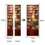 GWELL Sticker Trompe l'œil Stickers de Porte 3D Effet Décoration PVC Imperméable Bibliothèque Marron 77 x 200 cm de la marque GWELL image 1 produit
