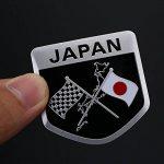 Hanbaili Forme de bouclier de 10pcs Voiture Vhiecle Styling Japonais Drapeau Métal Étanche Emblème Badge Autocollant Autocollant de la marque Hanbaili image 2 produit