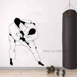 haotong11 Arts Jiu Jitsu Stickers Muraux Decal Combat Martial Salles De Sport MMA Autocollants en Vinyle Gym Décor Peintures Murales Amovibles Mur Wallpaper42 * 56 cm de la marque haotong11 image 0 produit