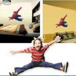 Hero Spiderman Grand sticker mural Spiderman pour chambre d'enfant de la marque Spiderman image 2 produit