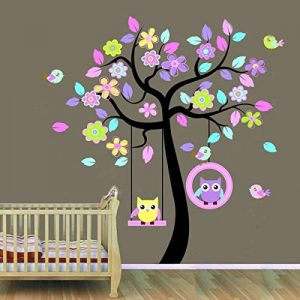 Hibou Sticker mural amovible en vinyle de la marque WallStickersDecal image 0 produit