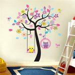 Hibou Sticker mural amovible en vinyle de la marque WallStickersDecal image 2 produit