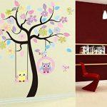 Hibou Sticker mural amovible en vinyle de la marque WallStickersDecal image 3 produit