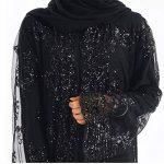 HLIYY Femmes Couleur Unie Robe Dentelle Musulman Islamique Kaftan Kimono Front Maxi Robe Sexy Mince Lady Lace Splice Manches Grand Châle Musulmanes Cardigan Robe Chic Outwear Longue Veste de la marque HLIYY-+Robe image 2 produit