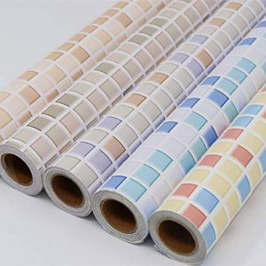 Hode Stickers Carrelage 40X300cm Autocollant Mural Imperméable Auto-adhésif en Mosaïque pour la Salle de Bain et la Cuisine (Couleur Claire) de la marque Hode image 0 produit