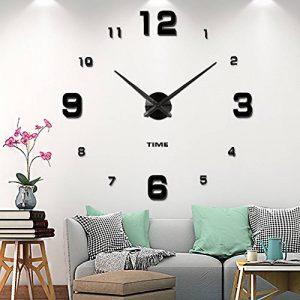 Horloge murale mute DIY Grand moderne Sticker 3D Home Office Decor cadeau-2 ans de garantie de la marque VANGOLD image 0 produit