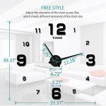 Horloge murale mute DIY Grand moderne Sticker 3D Home Office Decor cadeau-2 ans de garantie de la marque VANGOLD image 3 produit