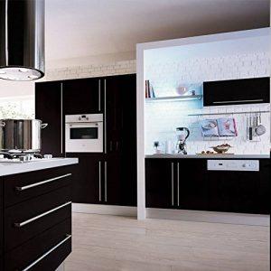 Humtool 5×0,61M Noir Papier Peint Autocollant Rouleau Adhésif Sticker Mural Etanche pour Armoire Cuisine Meuble Electroménager Carreaux Mur Verre en PVC de la marque Humtool image 0 produit