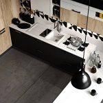 Humtool 5×0,61M Noir Papier Peint Autocollant Rouleau Adhésif Sticker Mural Etanche pour Armoire Cuisine Meuble Electroménager Carreaux Mur Verre en PVC de la marque Humtool image 4 produit