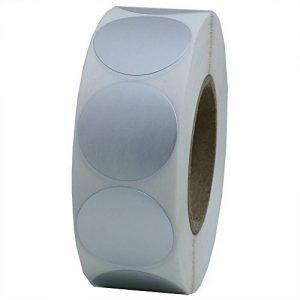 Hybsk Argenté métallique étiquettes 25mm ronds Code couleur Dots Stickers Total 1000par rouleau 1 Roll blanc de la marque Hybsk image 0 produit