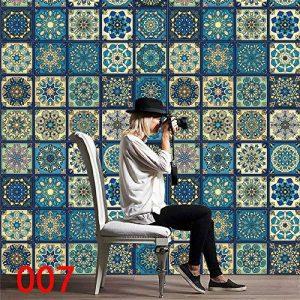 iHAZA 1 Rouleau De Carrelage Auto-Adhésif Art Sticker Mural Autocollant Bricolage Cuisine Salle De Bain Décor Vinyle de la marque iHAZA image 0 produit