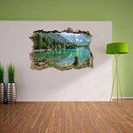 immense lac dans un paysage de montagne mur percée en 3D look, mur ou format vignette de la porte: 92x62cm, stickers muraux, sticker mural, décoration murale de la marque Stil-Zeit image 2 produit