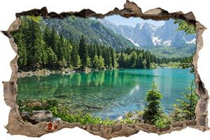immense lac dans un paysage de montagne mur percée en 3D look, mur ou format vignette de la porte: 92x62cm, stickers muraux, sticker mural, décoration murale de la marque Stil-Zeit image 0 produit