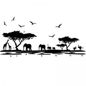 Inovey Éléphant d'Afrique Animaux Stickers Muraux Noir Mural Accueil Decal Amovible Art Vinyle Chambre Décor DIY de la marque Inovey image 0 produit