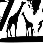 Inovey Éléphant d'Afrique Animaux Stickers Muraux Noir Mural Accueil Decal Amovible Art Vinyle Chambre Décor DIY de la marque Inovey image 2 produit