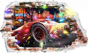 Interpaw Cars 3D Cartoon Smashed Stickers muraux pour Chambres garçons et Filles Sticker Mural Taille: Grand 93 cm X 57 cm de la marque Interpaw image 0 produit